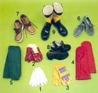 Skyddsutrustning för händer och fötter