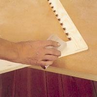 Slipa hela ramen med finkornigt slippapper och kloss
