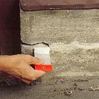 Spackel för utomhusarbeten. Utomhusspackel kan användas till att laga socklar