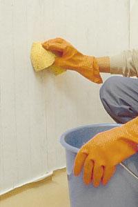 Tvätta ren den slipade ytan