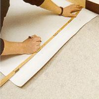 Vid prång ska du vika tillbaka mattan något mer än prångets djup.