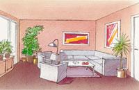 Färgsättning för att förstärka miljön i rummet
