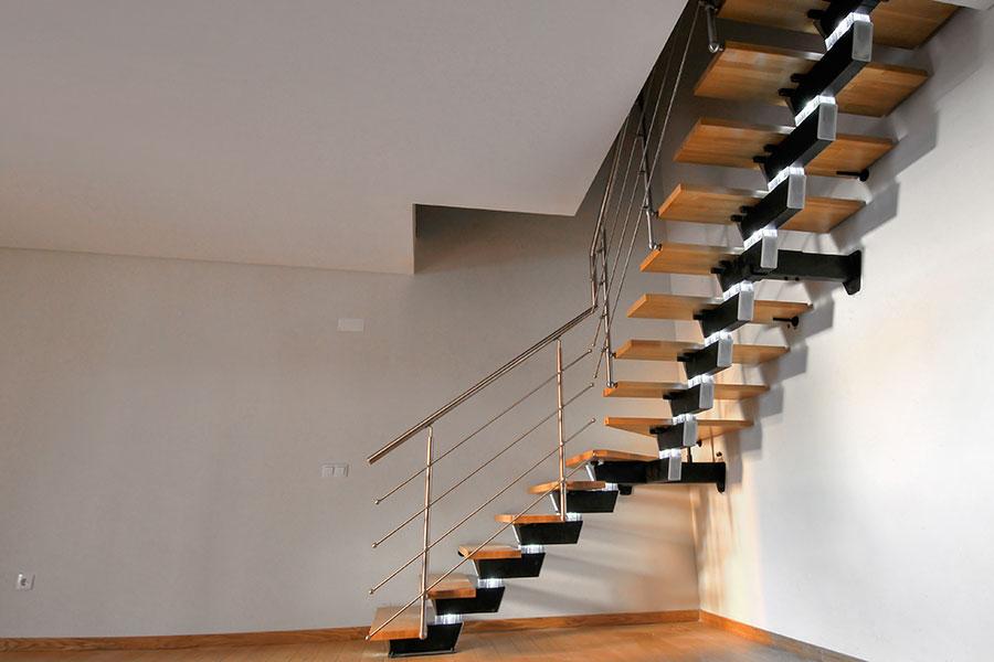 Balktrappa zick-zack formad