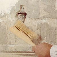 Borsta bort alla murningsrester