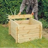 Demontera nu kompostbehållaren