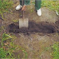 Bestäm brons exakta läge och gräv för brofästena.