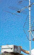 Med en bärbar TV eller hyrd inställningsapparat kan du själv rikta antennerna tills du får bästa bild