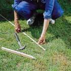 Mäter upp läggningsytan