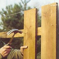 Var noga med att sätta brädan ända upp till linan