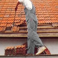Ta ner de takpannor som måste bort