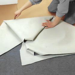 Markerar varje vikyta med ett blyertsstreck på golvytan