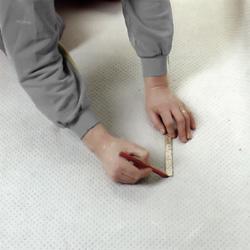 För över måttet på mattans undersida