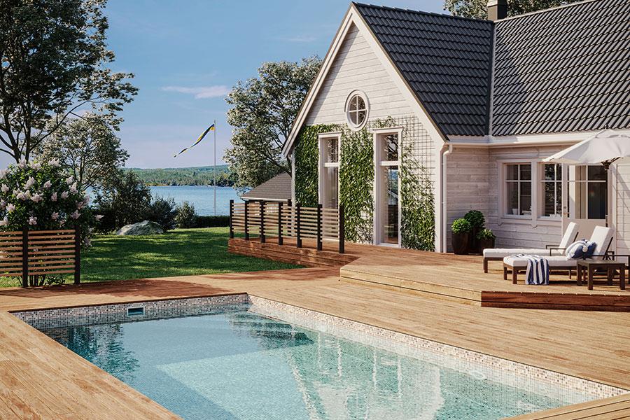 Energieffektiv pool för miljön