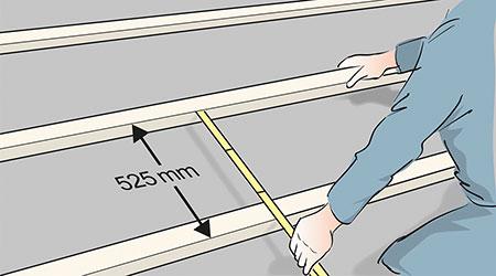 Är underlagstaket av board eller liknande monterar du en bärläkt