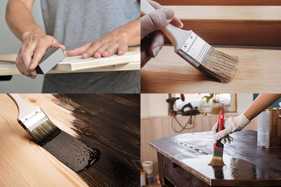 sammanfattning arbetsmoment vid betsning av trä