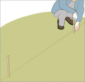 markerar för staketstolpar