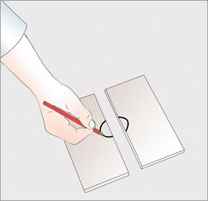 ritar urtag motsvarande klinkerplatta