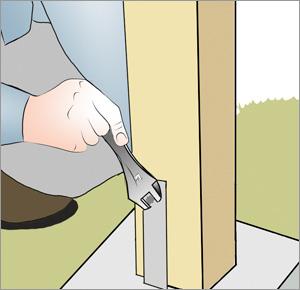 skruvar fast grindstolpe för grinden