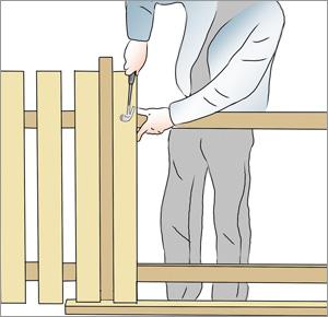 måttlist för spjälor till staketet