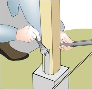 skruvar fast stolpar för staket
