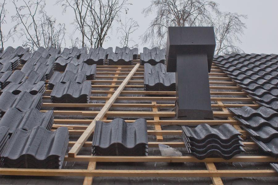 Uppdelning av takpannor på bärläkt