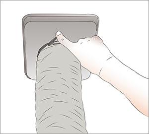 ventilationsslang till köksfläkt