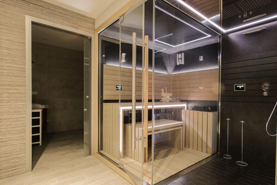 placering av bastu i badrum
