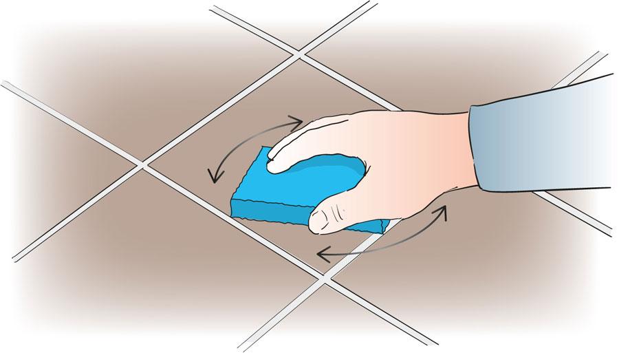 Byt ut en skadad klinker eller kakelplatta. bild 7