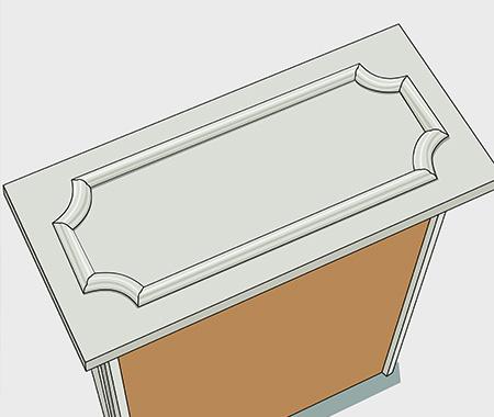 Måla fronten på kökslådorna. bild 1