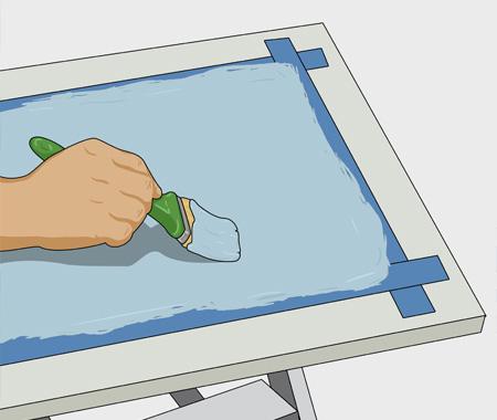 Måla köksluckor med dekorfärg. bild 5