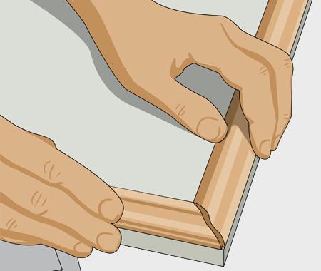 Måla köksluckor med furulister. bild 1