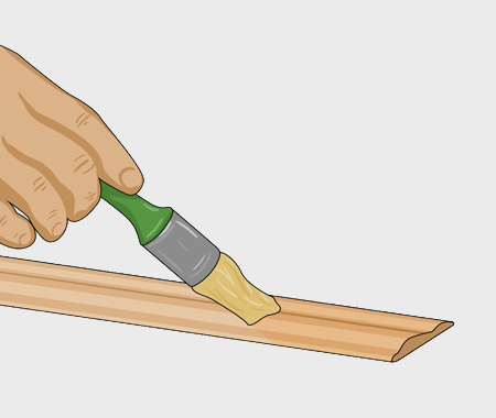 Måla köksluckor med furulister. bild 2