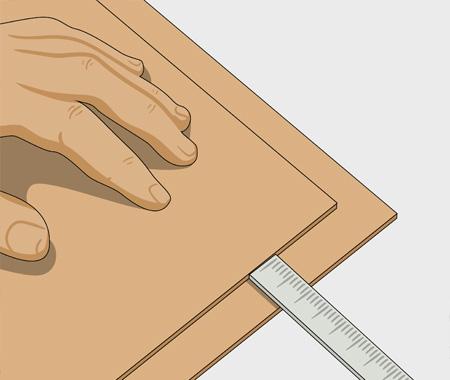 Måla köksluckor med spegel av masonit. bild 1