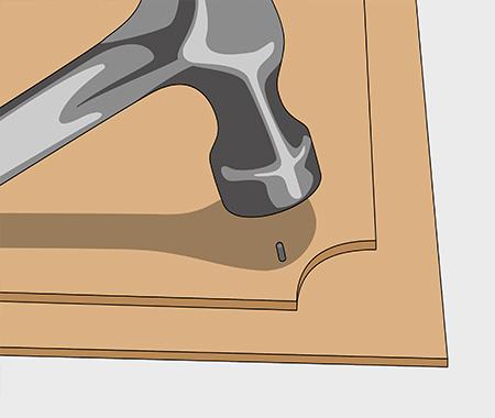Måla köksluckor med spegel av masonit. bild 3