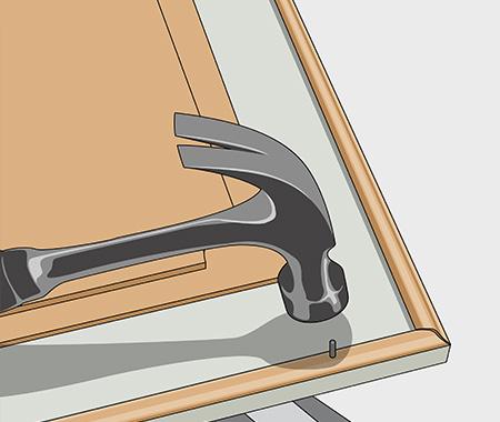 Måla köksluckor med spegel av masonit. bild 5