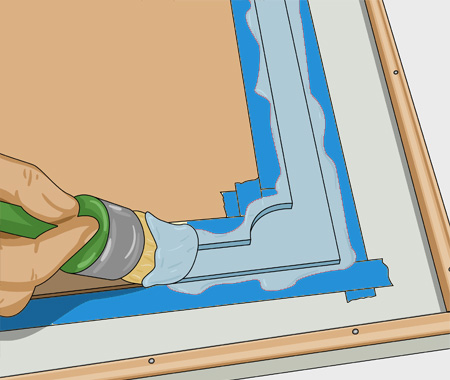 Måla köksluckor med spegel av masonit. bild 6