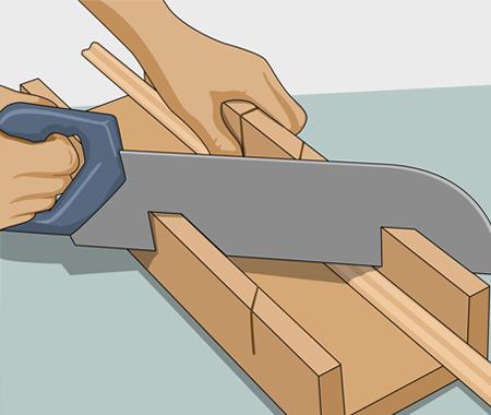 Sätta dekorlist och måla köksluckor. bild 2