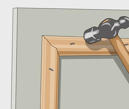 Sätta dekorlist och måla köksluckor. bild 3
