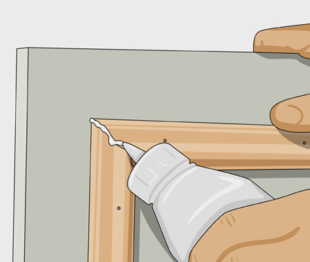 Sätta dekorlist och måla köksluckor. bild 4