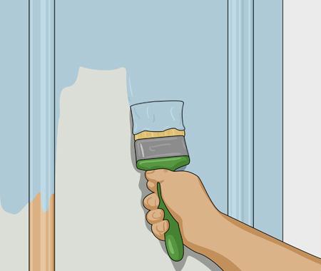 Sätta dekorlist och måla köksluckor. bild 9
