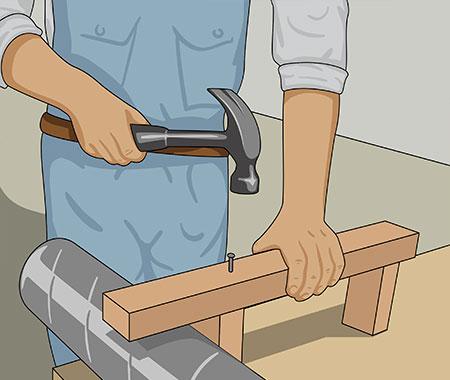 Använd röret som kontroll för passningen