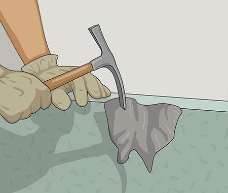 Använd en murarhamme för att se om putsen sitter löst