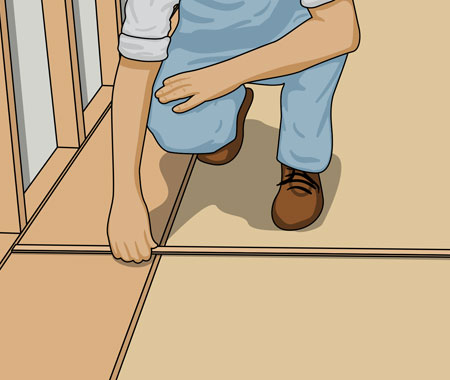 Mät upp den fria golvytan