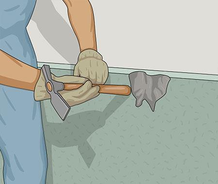 Alla skador måste repareras innan du målar husgrunden