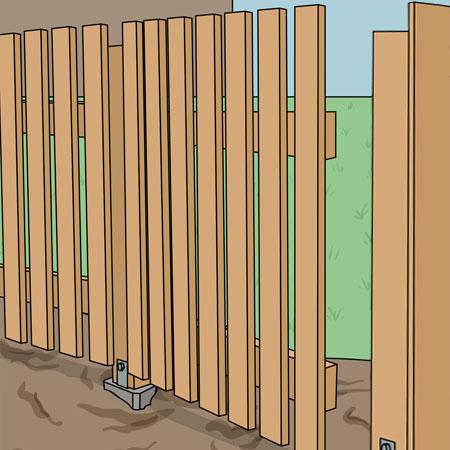 Kontrollerar grinden innan låsanordning monteras