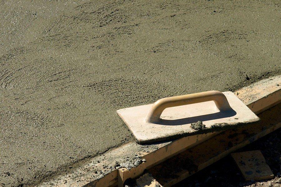 gjuta betong i vatten