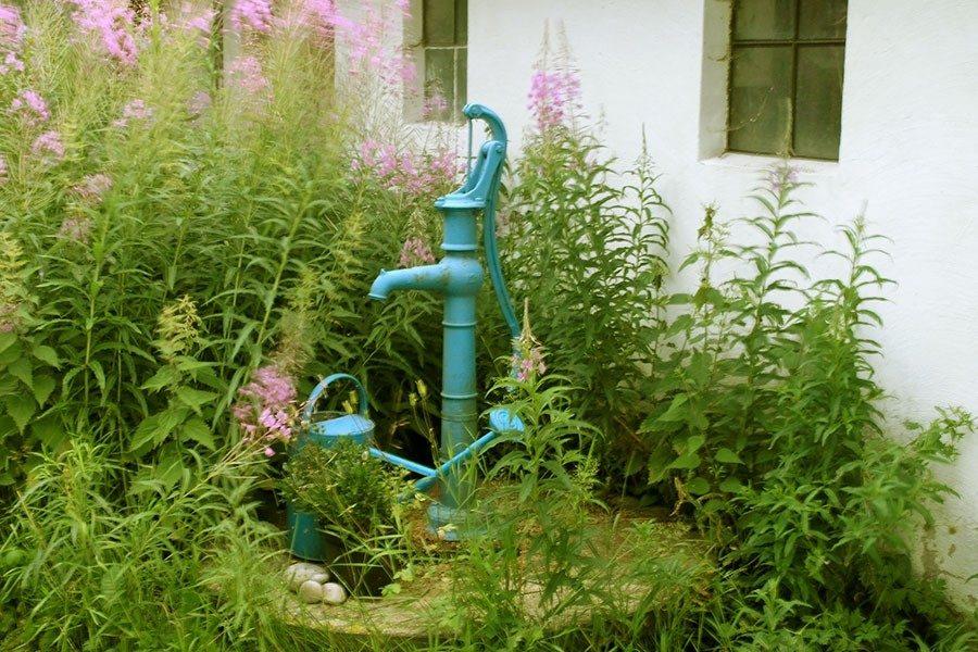 pump vatten trädgård